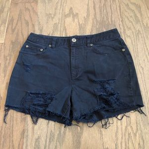 Vintage Talbots Cutoff Distressed Jeans Shorts